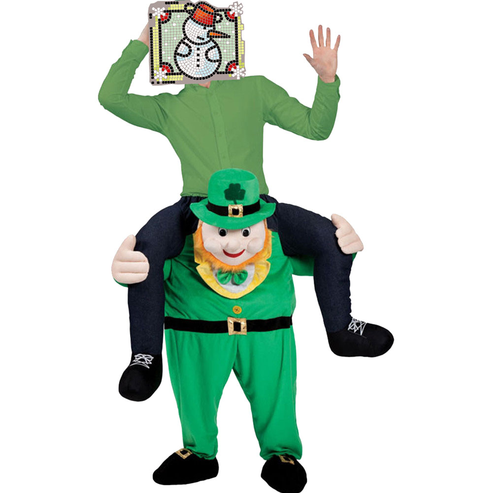 Carry Mascot Costume Ride On Green Man Oktoberfest Costumes Fantasia Adult Animal Funny Dress Up Fancy Pants Costume