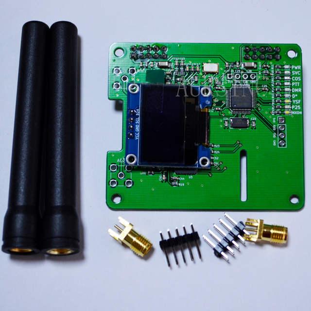 MMDVM DUPLEX hotspot Support P25 DMR YSF NXDN DMR SLOT 1+ SLOT 2 for  raspberry pi & full set and tested