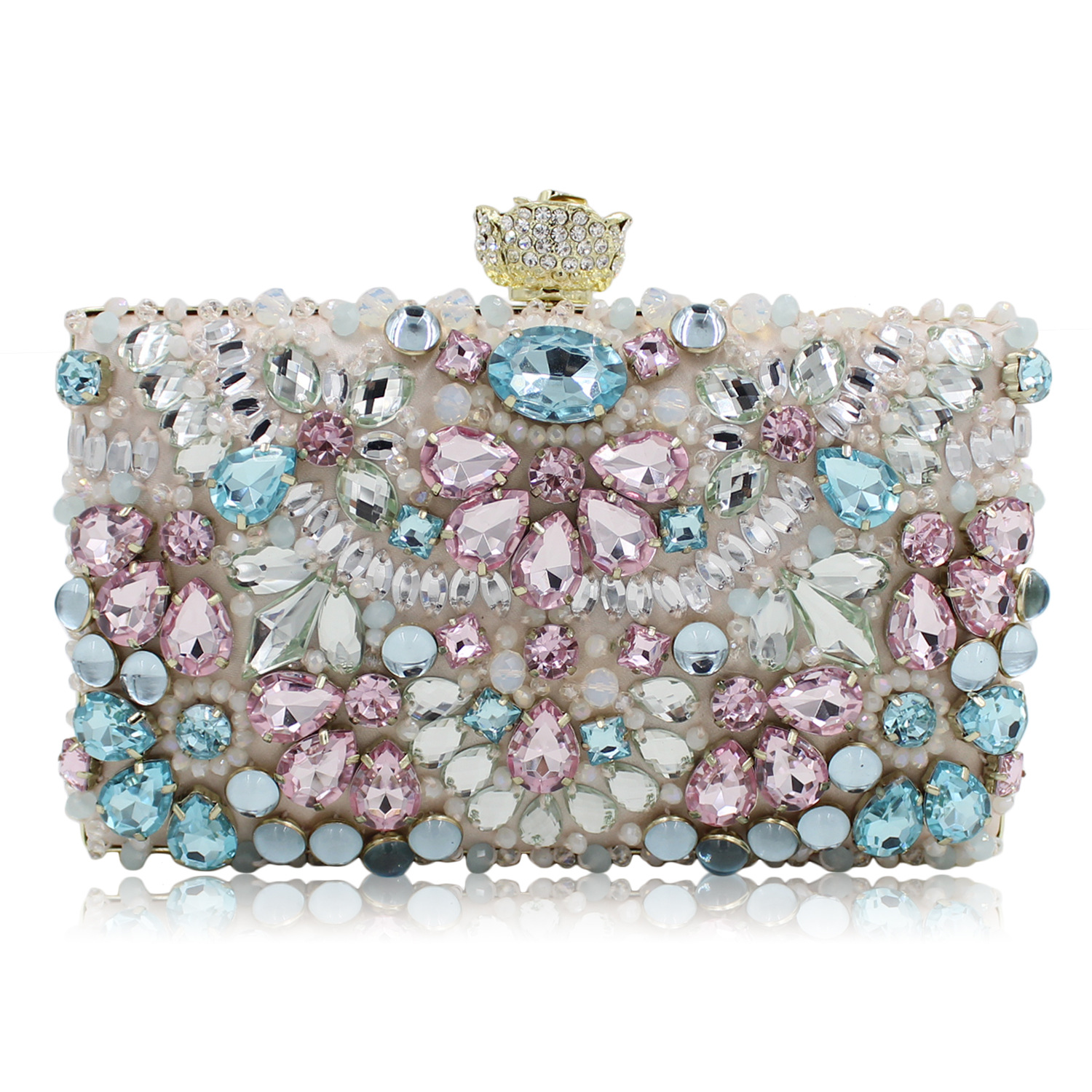 2017 Diamonds Day Clutches Purses Chain Handbags Women Beads Embroidery Clutch Evening Bags Ladies Bridal Wedding Party Bag new sequin clutch bag finger ring evening bag hard box clutch chain sshoulder bag crossbody bags for women purses and handbags