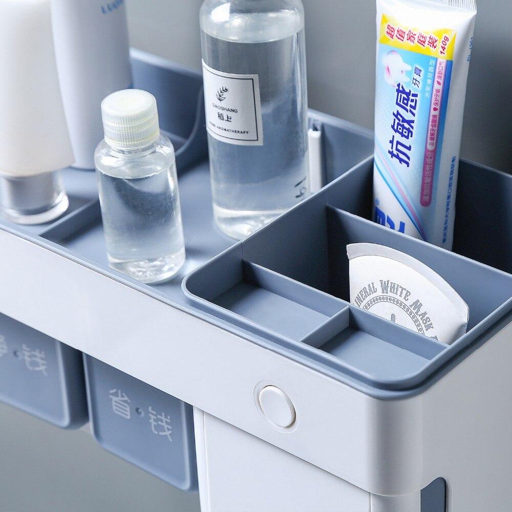 Toothbrush holder bathroom brushing intelligent sterilization kit toothpaste toothbrush rack suction wall in Toothbrush Toothpaste Holders from Home Garden