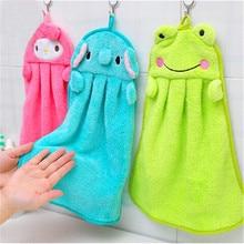 Детское полотенце для рук с мультяшным животным, Кухонное банное мягкое полотенце, домашний текстиль