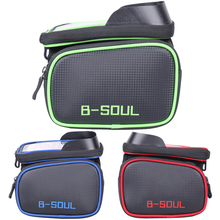 Bicycle Front Tube Bag Frame Pouch Holder MTB Road Bike Mobile Phone Pannier Bag Storage Case Cycling Accessories