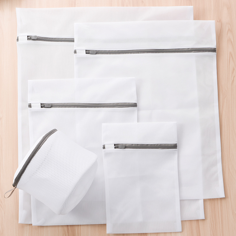 Zippered Foldable Nylon Laundry Bag High Quality Socks Underwear Clothes Washing Machine Protection Net Mesh Bags Wash Bags