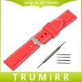 22mm banda de caucho de silicona para samsung galaxy gear 2 r381 r382 moto 360 2 r380 46mm asus zenwatch reloj pulsera de la correa negro rojo