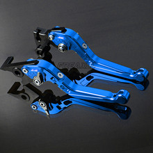 цена For Yamaha XT1200ZE XT600 XT600E XT600Z TENERE XT660 XT660R Motorcycle Brake Clutch Levers Foldable Extendable Adjustable Blue