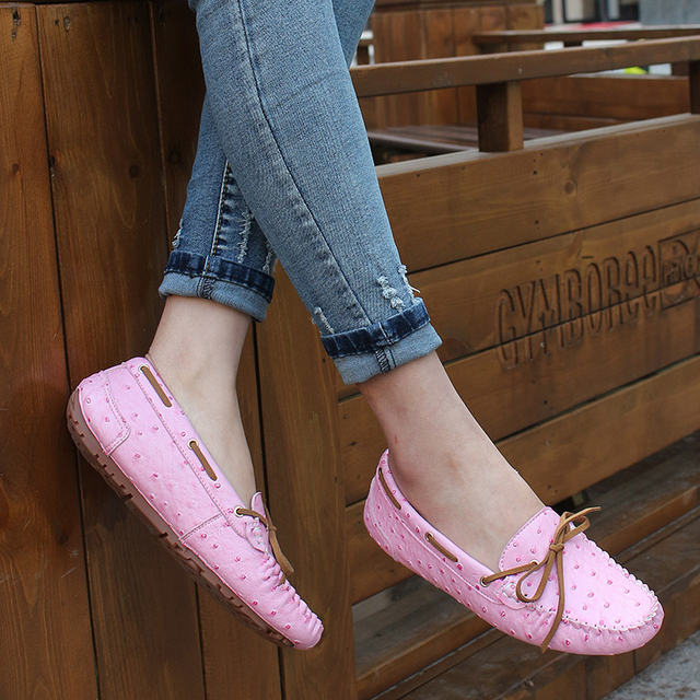Hot sale shoes women slip on flats women's Moccasins genuine leather flat shoes women ballet flats women loafer