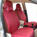 Tampa de assento do carro conjunto universal vermelho para hatchback e sedan splited 40/60 ou não material mesmo interior tampa do carro da frente e de trás