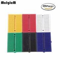 McIgIcM 200pcs SYB 170 Mini Solderless Prototype Breadboard 170 Tie Points PCB Test Board Free Shipping