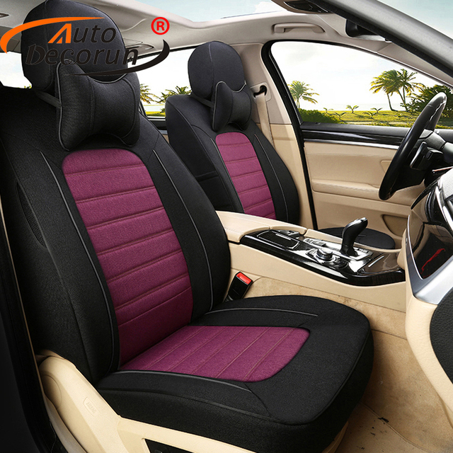 Autodecorun 18pcs Set Seat Cover For Audi Q5 Accessories Cars Covers Custom Flax