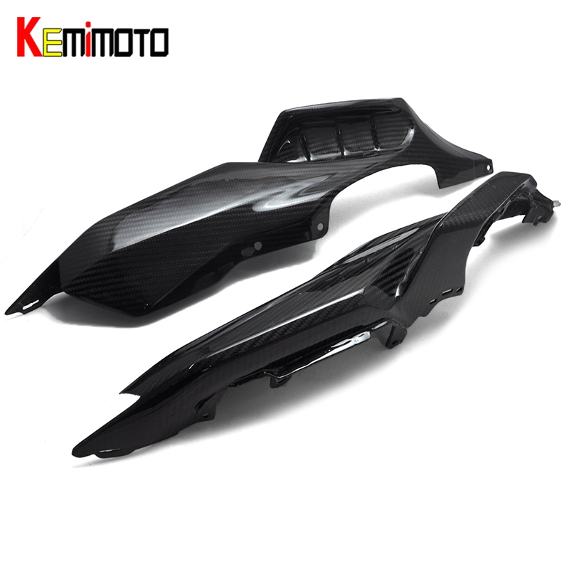 KEMiMOTO For Yamaha MT 07 MT07 Rear Side Tail Panel Fairing Cowl 100% Real Carbon Fiber FZ-07 MT-07 2013 2014 2015 2016 2017 копы в юбках dvd