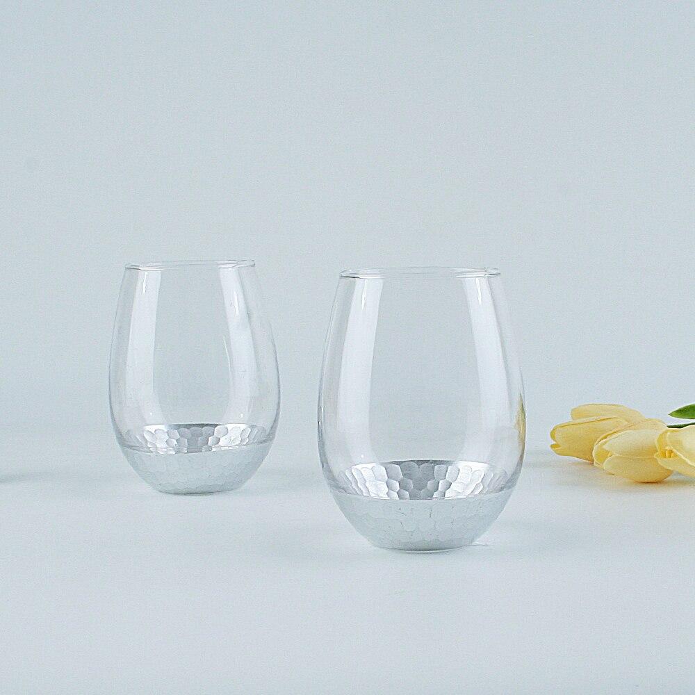 526ml offres spéciales sans tige cristal clair mariage whisky vin verres ensemble argent peint brandy tasse bière tasse drinkwares