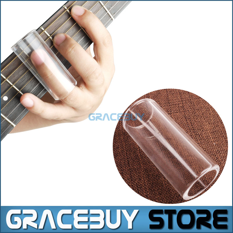 Glass Acoustic Electric Guitar Slide Finger Slider/ Sliding Guitarists Musical Instrument New two way regulating lever acoustic classical electric guitar neck truss rod adjustment core guitar parts