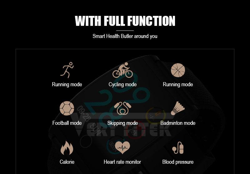 VERYFiTEK QS05 Smart Bracelet Watch Blood Pressure Oxygen Smart Band Heart Rate Monitor Wristband Pedometer Fitness Bracelets  (2)