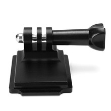 Черный Алюминий шлем фиксированной крепление для GoPro Hero Спорт действий Камера и ОНВ Подставки держатель адаптер с винт
