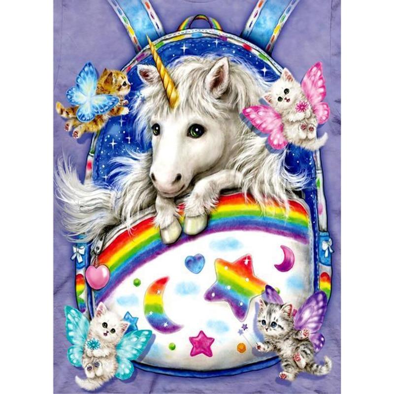 Cute little unicorn diamond Embroidery diy painting mosaic diamant 3d cross stitch pictures H726