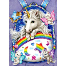 Cute little unicorn diamond Embroidery diy painting mosaic diamant 3d cross stitch pictures H726