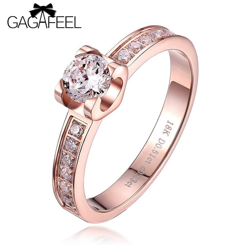 Женски прстен високог квалитета, божићна страст, романтична медена ружа златна боја, накит прстена, прстен од жене, циркон