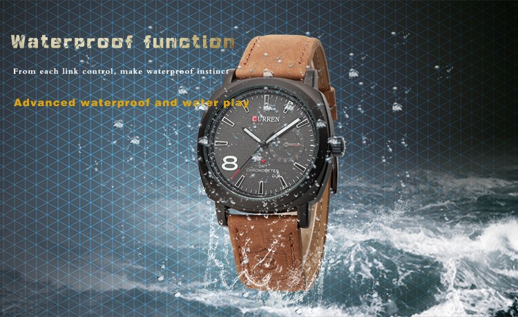 CURREN Original Brand Men Watch Luxury Leather Strap Quartz Watch Waterproof Clock 8139 14