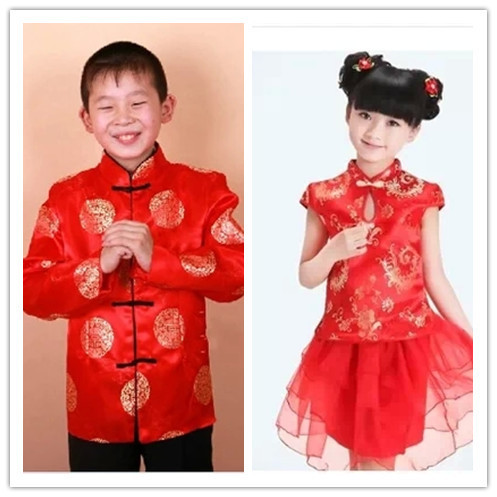 Qipao Chinese childrenu0027s costume jacquard satin boy Chinese costume festive dress girl red costumes wholesale  sc 1 st  AliExpress.com & Qipao Chinese childrenu0027s costume jacquard satin boy Chinese costume festive dress girl red costumes wholesale-in Cheongsams from Novelty u0026 Special ...