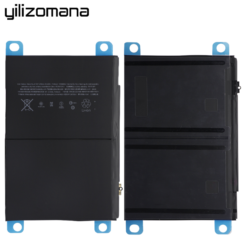 iPad Original Tablet 7340mAh Replacement A1567 A1566 YILIZOMANA Battery  For 6 Air 2 2