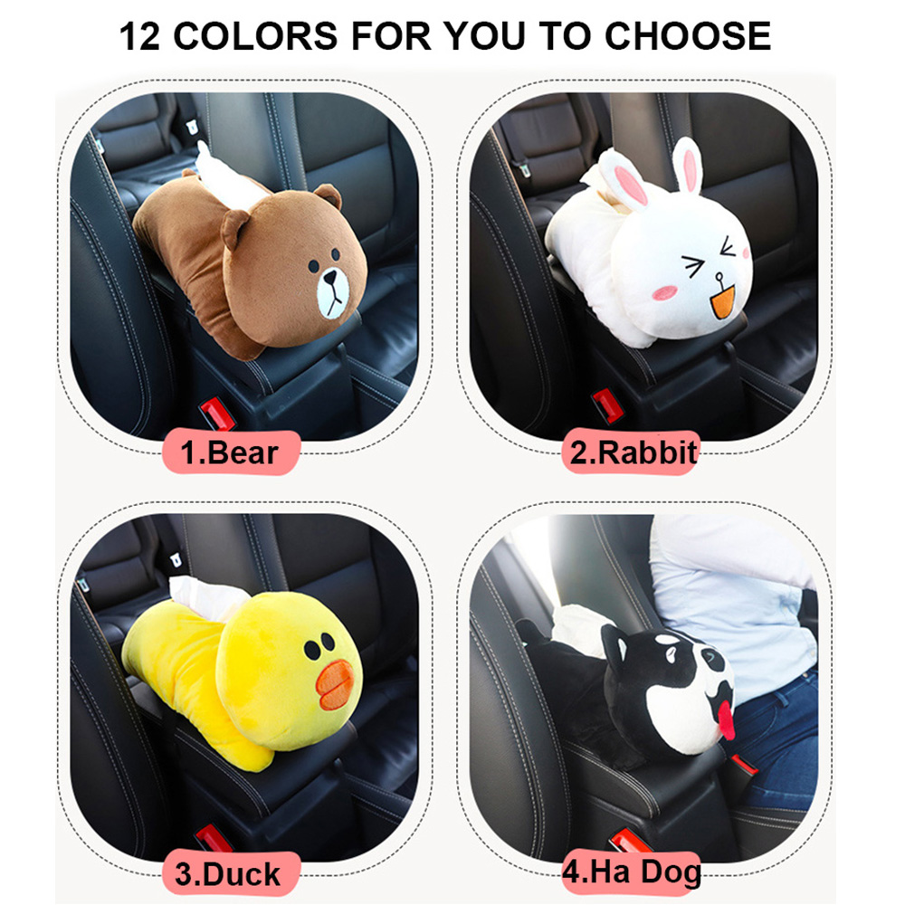 New High Quality Multifunction Universal Car Armrest Box Tissue Box Creative Cartoon Cute Tissue Box car Interior Accessories in Tissue Boxes from Automobiles Motorcycles
