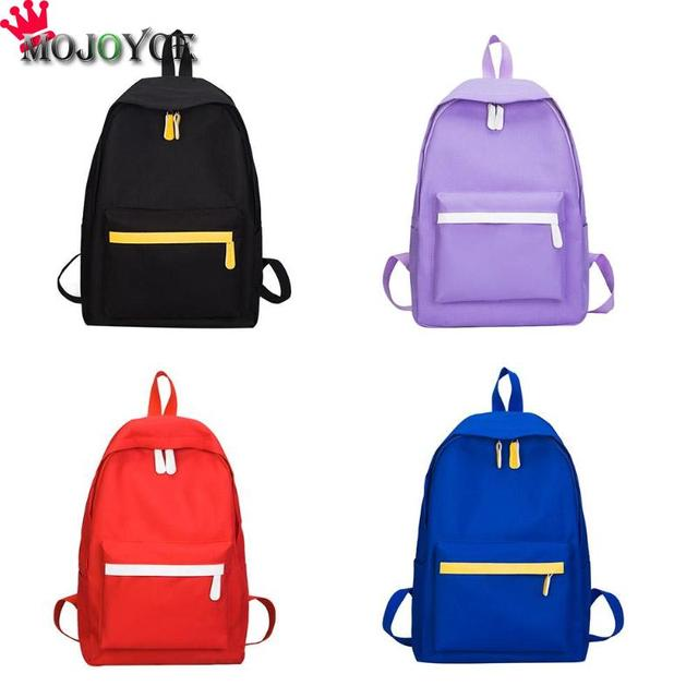 dd32369fb53a 2018 New Women Casual Simple Backpack Travel College Style School Bag Girls  Generous Decent Canvas Zipper Shoulder Bags