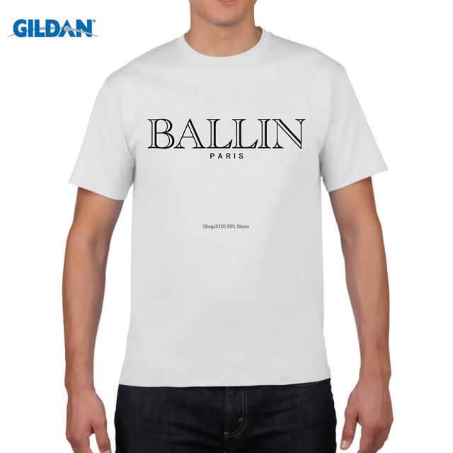 GILDAN BALLIN PARIS Printed T Shirts Online Cheap Tee Shirt Mans ...