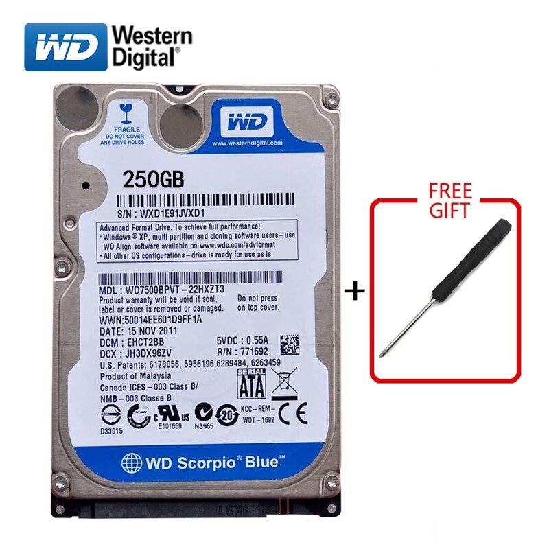 WD Brand 250Gb HDD 2 5 SATA Internal Hard Drive 250G HD Hard Drive 3 6Gb
