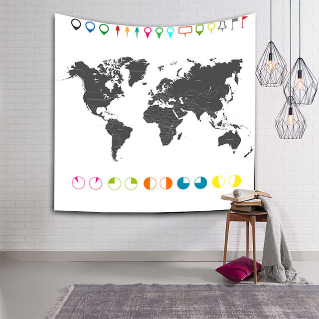 World map tapestry the pacific ocean wall hanging atlantic couches world map tapestry the pacific ocean wall hanging atlantic couches home decoration europe asia blanket 200cm gumiabroncs Choice Image