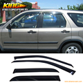 For 02 03 04 05 06 Honda CRV CR-V Vent Window shades Visor Dark Smoke