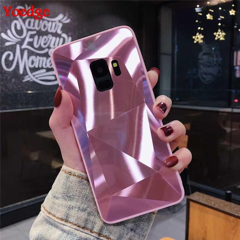 3D Kim Cương Dành Cho Samsung Galaxy J3 J5 J7 A5 2017 2016 J4 J6 A6 A8 S8 S9 S10 Plus s10E Note 8 9 A9 A7 2018 Lấp Lánh Hồng Ốp Lưng