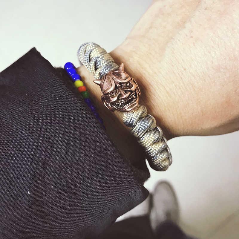 Mcilroy charm bransoletki męskie metalowe czaszki bransoletka viking handmade diy lina nylonowa z oplotem biżuteria bransoletka męska bileklik viking