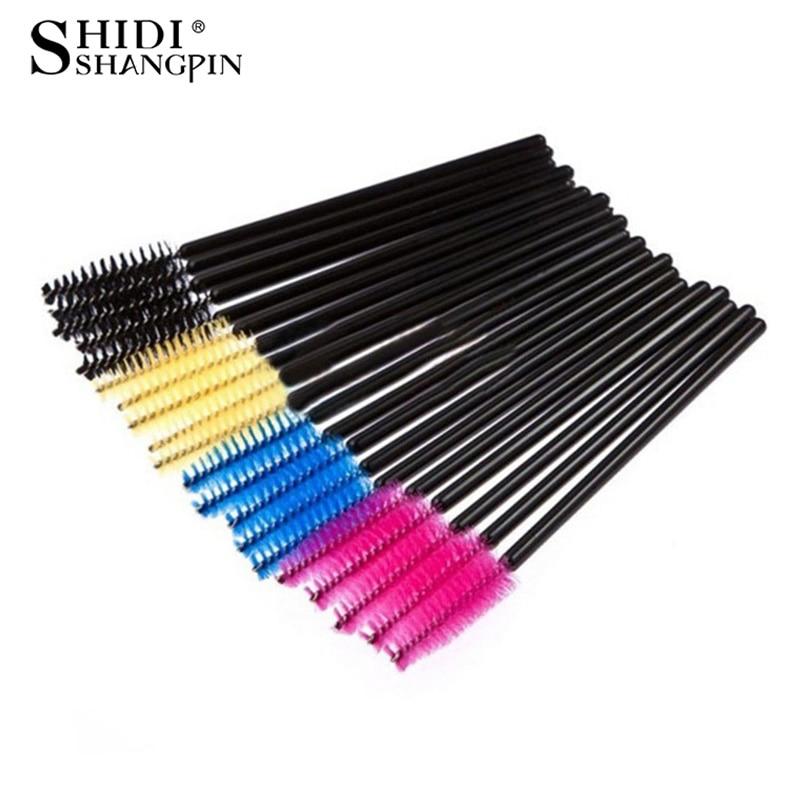 New 50pcs/Pack Disposable Eyelash Brushes Makeup Mascara Applicator Wand Eyes Lip Cosmetics Brushes Eye Lashes Cosmetic Brush