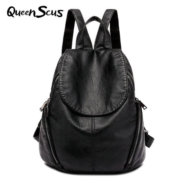 bc95159660a9 Для женщин Мода Большой овчины Пояса из натуральной кожи рюкзак компьютер  студент сумка дорожная сумка Колледж