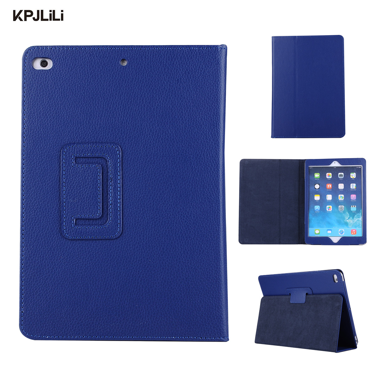 Premium PU Leather Folded Tablet Case for iPad 9 7 New 2017 Smart Cover for iPad