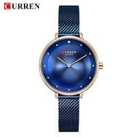 Top Brand Luxury CURREN Simple Business women Watches Classic Dial Ultra thin Quartz Wristwatches Clock Ladies relogio feminino
