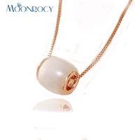 Italina Rigant Free Shipping Fashion Jewelry Wholesale Jewelery Set 18k Rose Gold Plated Cymophane Necklace Birthday