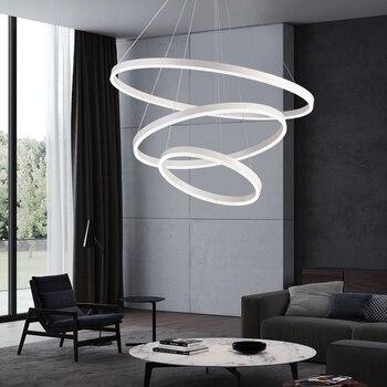 Luces Colgantes Led Blancas/negras Para Dormitorio Comedor Lámpara Colgante Suspensión Luminaria Lamparas De Techo Colgante Moderna