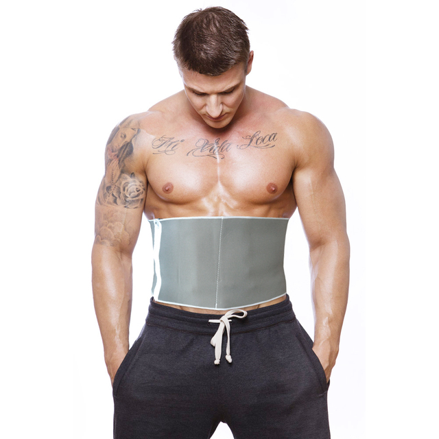 Mens Adjustable Sauna Trimmer Slimming Waist Shapers Belt Body Shaper Burn Belly Fitness Modeling Strap Corsets 5 Zippers Wrap