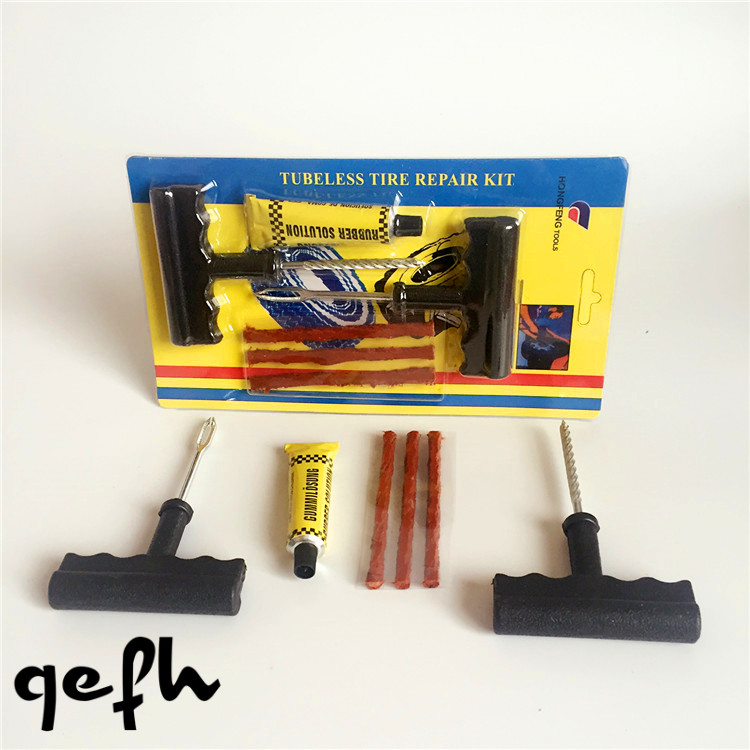 1 Set Professional Auto Car Tire Repair Kit Car Bike Auto Tubeless Tire Tyre Puncture Plug Repair Tool Kit Tool Car Accessories