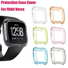 TPU Silicone Cover Case Watch Casing Guard Protector For Fitbit Versa Smart Band SmartWatch Watachband Sporting Goods Access(China)
