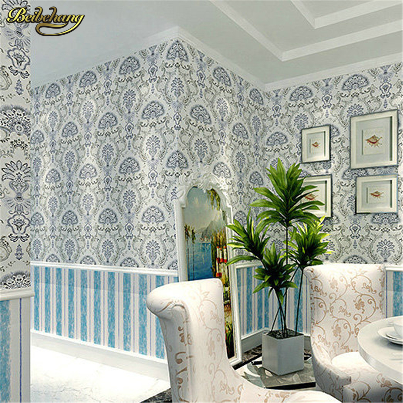 все цены на beibehang wallpaper for walls 3 d,Southeast Asian style microfiber AB wallpaper bedroom living room sofa TV wall wall paper в интернете