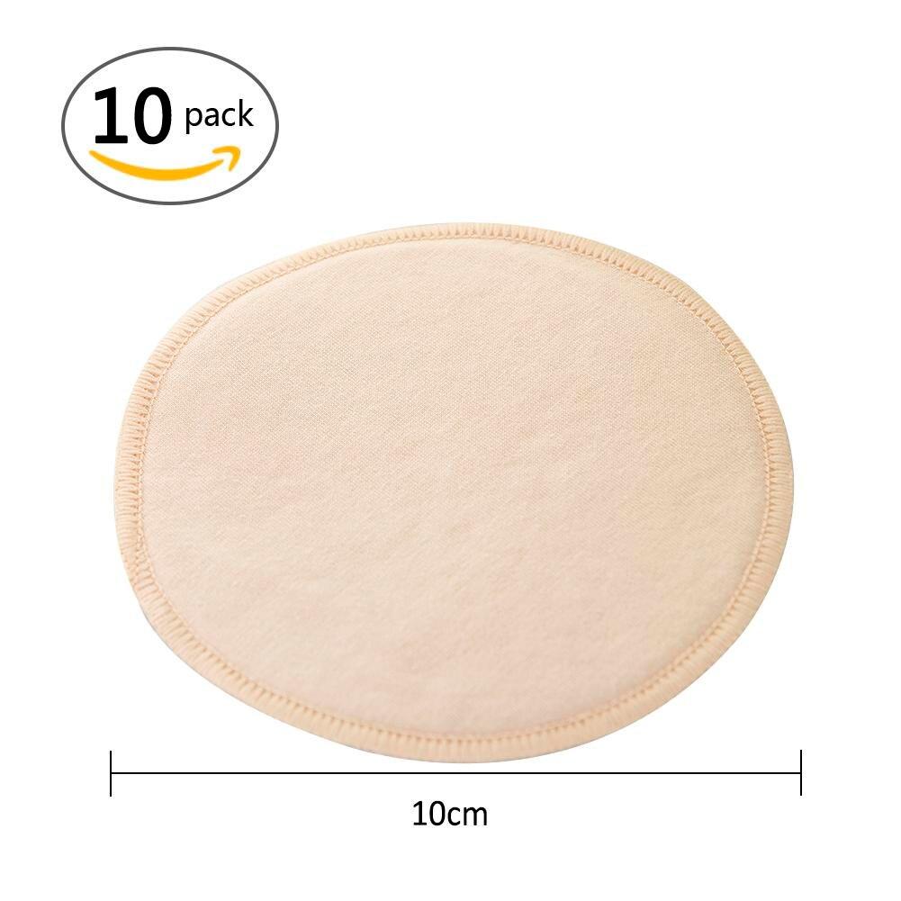 10 PCS Baby Feeding Breast Pad Pure Cotton Thin Breathable Washable Reusable Anti Milk Overflow Maternity Nursing Pad 5