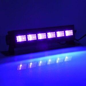 Image 4 - 6LED 9LED 12LED ديسكو UV الأسود أضواء DJ 36 W الاسمية مصباح الأشعة فوق البنفسجية حزب عيد الميلاد شريط ضوء الليزر ضوء المرحلة الأشعة فوق البنفسجية الجدار غسالة الضوء