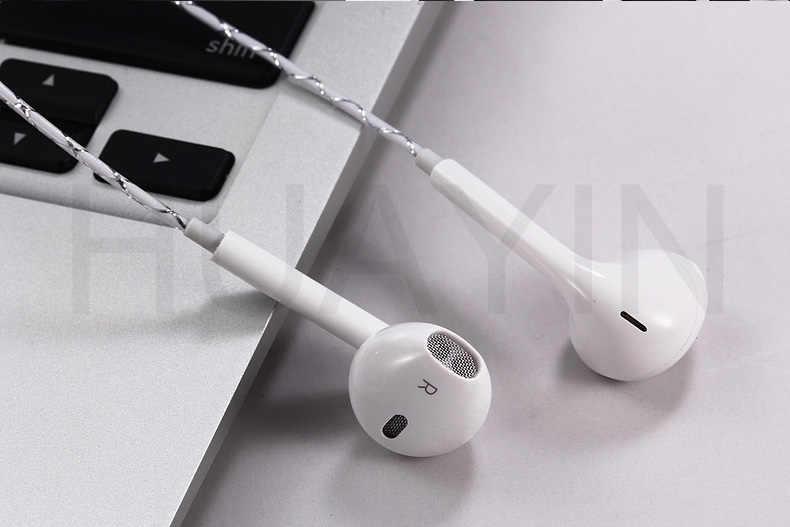 2m 3m przewodowy Jack 3.5mm słuchawki słuchawki komputerowe kryształ linia słuchawek zatyczki do uszu telewizor z dostępem do kanałów zestaw słuchawkowy dla Apple telefon xiaomi wszystkie telefony