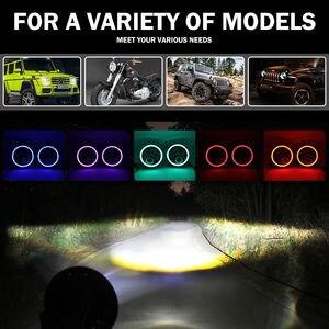 Image 3 - RGB Halo 7 אינץ Led פנס Plug And Play Bluetooth Led עיני מלאך פנס אטום קרן עבור ג יפ רנגלר CJ JK אבזרים