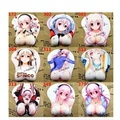 2016 new version silicone wristbands Cartoon Creative Japanese anime 3d breast mouse pad