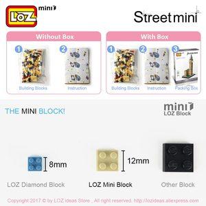 Image 5 - LOZ Mini cegły architektura Mini Model uliczny ciasto sklep sklep budynek montaż zabawka miasto plac zestaw bloku księgarnia prezent dla dzieci