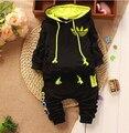 Nova Roupa Do Bebê Set 2017 Primavera Outono Bebê Conjunto roupas meninos Recém-nascidos Twinse Ternos Do Esporte hoodies pant Roupa Das Crianças Meninas roupas