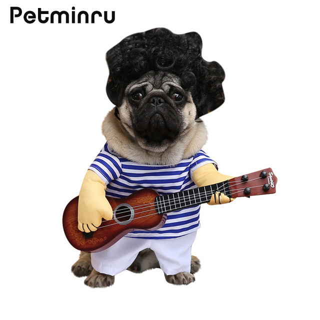 Petminru Funny Halloween Dog Costumes Guitar Pet Clothes Puppy ...